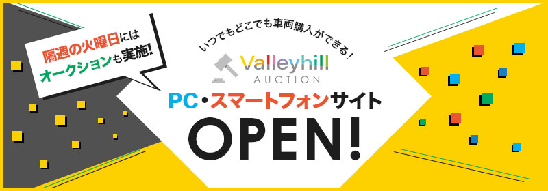 ValleyhillオークションOPEN!